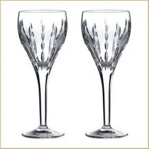 Buy them these Neptune Wine Glasses from Royal Doulton for there 50th anniversary gift