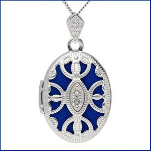 Buy her this Silver Diamond Accent Oval Locket on this anniversary