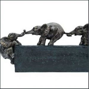 Buy her this cute Trunk Team Baby Elephant Sculpture for this anniversary gift