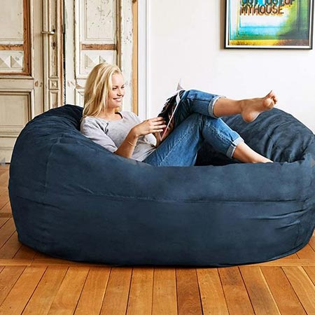Buy the Bean Bag Chair in Blue for this anniversary gift