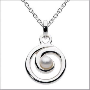Buy her this Pearl spiral pendant for this anniversary gift