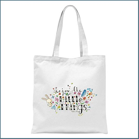 Buy her the Enjoy The Little Things tote bag for this anniversary gift