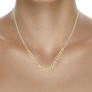 Buy her this 9ct Yellow Gold Graduated Circle Necklace for this anniversary gift