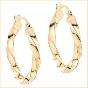 Buy her these Gold Creole Loop Earrings for this anniversary gift