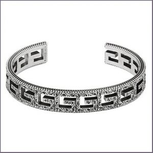 Buy her this Gucci Silver Cuff Bracelet for this anniversary gift