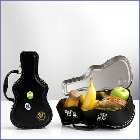 Buy him the Guitar Case lunchbox for this anniversary gift