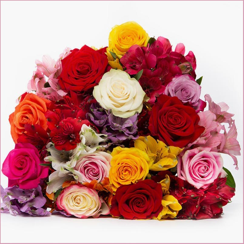 Buy her or them this beautiful Rainbow Dreams Bouquet on this anniversary