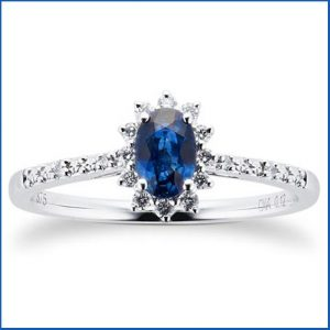 Buy her this sapphire and diamond eternity ring for this anniversary gift