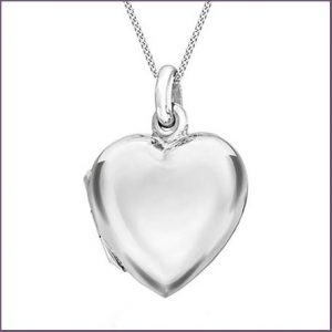 Buy her a silver heart pendant from goldsmiths for this anniversary gift