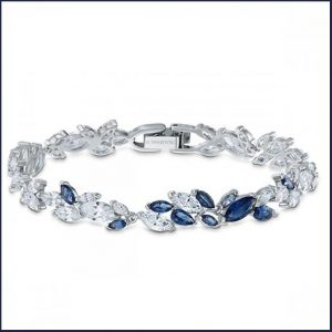 Buy her this Swarovski Sapphire Dark Louison Bracelet  for this anniversary gift