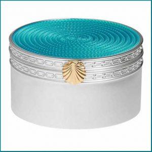 Buy her this Vera Wang love treasures box in aquamarine for this anniversary gift