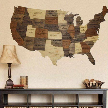 Buy them the USA Multi Layered 3d Map for this anniversary gift