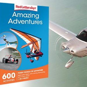Buy them the Amazing Adventures Gift Box with so many experiences to choose from for this anniversary gift