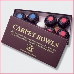 Buy them the Drake's Carpet Bowls for this anniversary gift can be played indoors