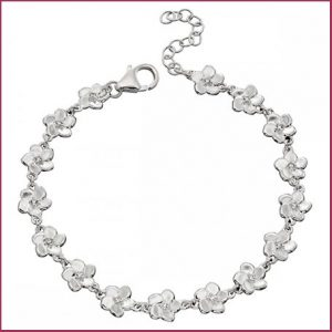 Buy her the Silver Cherry Blossom Bracelet for this anniversary gift