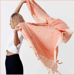 Buy her the Embroidered Scarf in Desert Rose for this anniversary gift