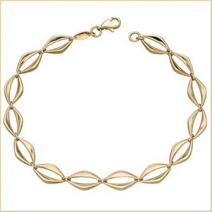 Buy her the Elements Gold 9ct Open Eye Link Yellow Gold Bracelet for this anniversary gift
