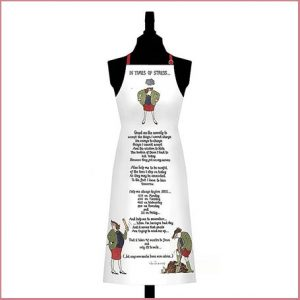 Buy her In Times of Stress Cotton Apron, A witty and fun apron for this anniversary gift