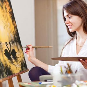 Buy her an online painting class for this anniversary gift