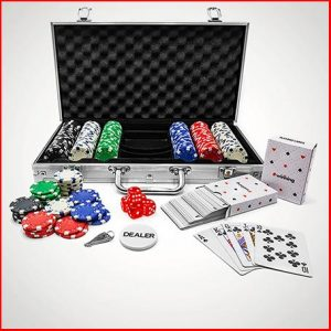 Buy him or the couple the 300-Piece Poker Set in Carry Case for this anniversary gift