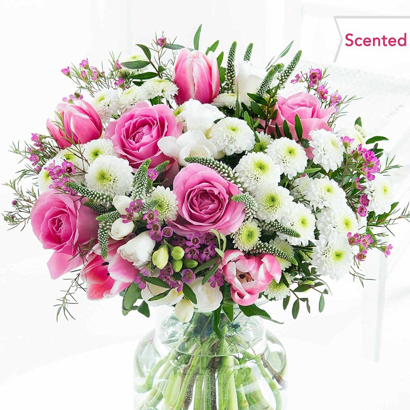 Buy her or them the Spring Burst Bouquet for this anniversary gift