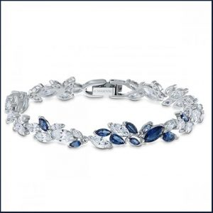 Buy her Swarovski Sapphire Dark Louison Bracelet for this anniversary gift
