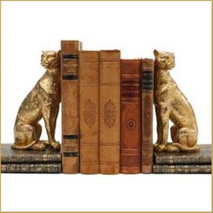 Buy them these pair of Cheetah bookends for this anniversary gift