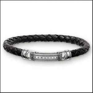 Buy him the Thomas Sabo Black Strap Leather Bracelet for this anniversary gift
