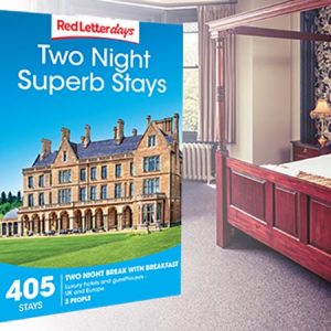 Buy them the Two Night Superb Stays Gift Box for this anniversary gift, in boutique city hotels, country houses fit for a queen and divine seaside retreats