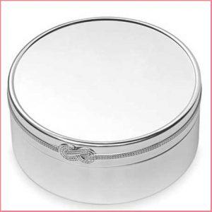Buy her the Vera Wang Infinity Round Keepsake Box for this anniversary gift