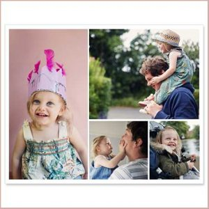 Buy them a family photo printed onto a wooden panel with frame for this anniversary gift
