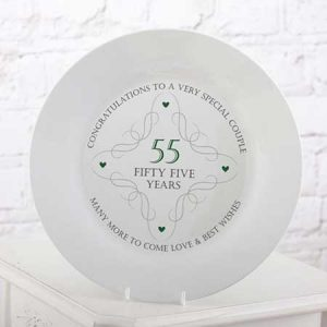 Buy them this 55th anniversary plate for their anniversary gift