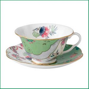 Buy her the Butterfly Bloom Green Teacup and Saucer for this anniversary gift