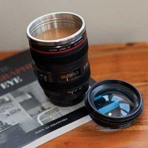 Buy him the Camera Lens Mug for this anniversary gift