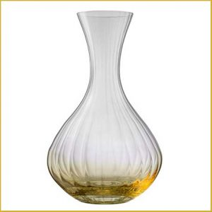 Buy her the Galway Living Erne Carafe in Amber for this anniversary gift