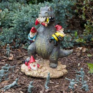 Buy him the Great Gnome Massacre garden figure for this anniversary gift, Please be warned that this product is not suitable for die-hard gnome lovers.