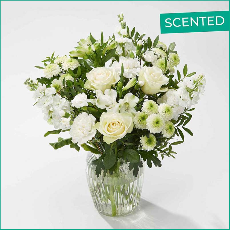 Buy her or them the Pearly Whites Bouquet for this anniversary gift
