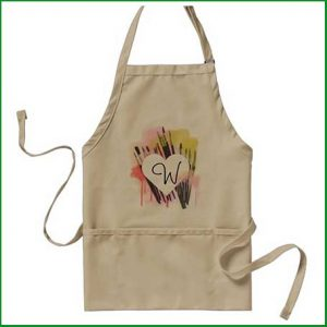Buy her this personalised artist apron for an anniversary gift