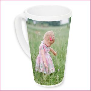 Buy her this personalised latte Mug, Show off your creative side by using one of our designer layouts, adding a clever sentiment for this anniversary gift