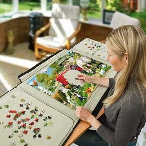 Buy her, him or the couple the portaPuzzle for this anniversary gift, very handy for transporting large puzzles