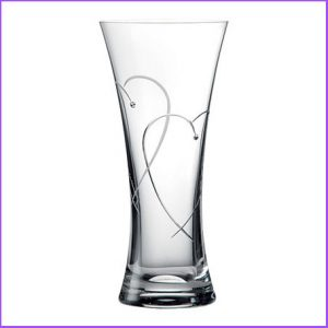 Buy her the Promises Two Hearts Entwined Tall Vase for this anniversary gift, perfect for the flowers you buy her as well
