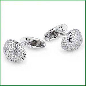 Buy him these golf ball silver cufflinks for this anniversary gift