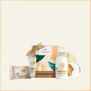Buy her this Soothing Almond Milk & Honey Little Gift Box for this anniversary gift