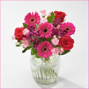 Buy her the Very Cherry Bouquet for this anniversary gift, This bunch will brighten up anyone's day.