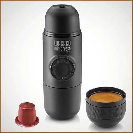 Buy him or her Wacaco Minipresso NS Capsule Espresso Maker for this anniversary gift