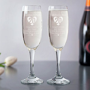 Great selection of personalised anniversary gift from glasses to picture frames