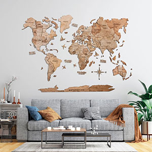 These wooden world maps make a great gift and addition to any home