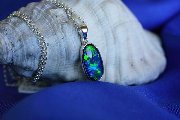 21st wedding anniversary - Copper - Opal