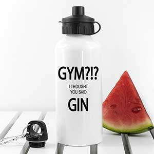 Buy her this funny gym-gin water bottle for this anniversary gift
