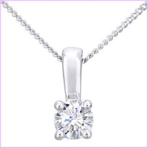 Buy her a diamond pendant for this  wedding anniversary gift, we have a selection to choose from.